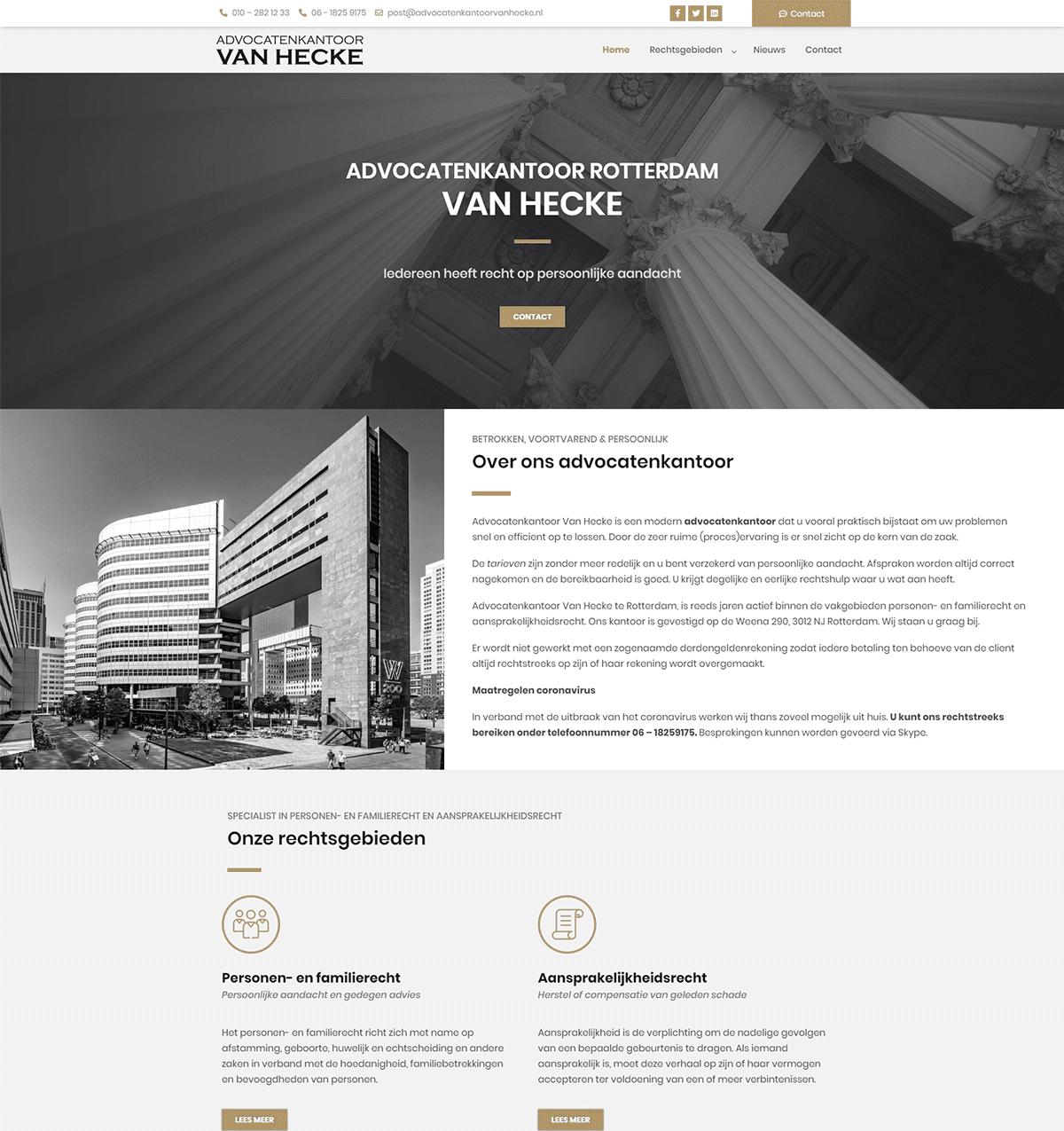 advocatenkantoor-van-hecke-website